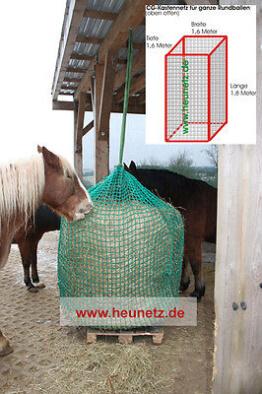 Heunetz für Rundballen - Rundballen Heunetz - engmaschig - 4,5cm Maschenweite