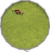 Longierzirkel Roundpen 17 m Weidepanels + Tor, AKTION,Weidepanel Paddock