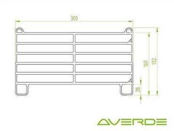 Roundpen, Longierzirkel Ø 17 m mit 17x 3m Panel und 1x 3 m Panel mit Tür
