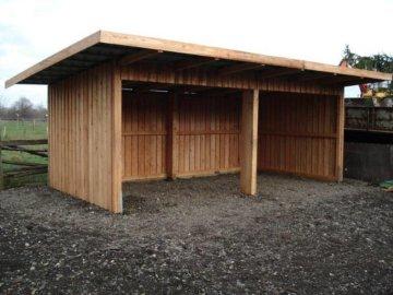 Weidehütte 3-seitig aus Lärchenholz