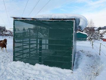 Weideunterstand, Weidehütte, Schutzhütte, Unterstand + Trapezblechdach, 6m x3m